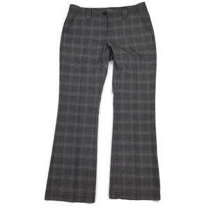Cabi 922L Gray & Black Glen Plaid Career Pants- 12